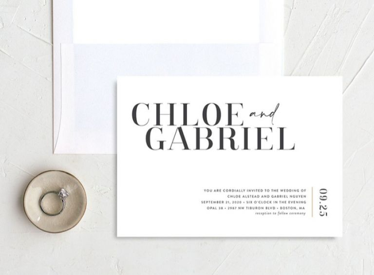 Matching invitation-matching a theme in store