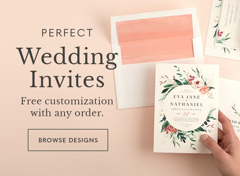 Wedding Invitations with Free Customization