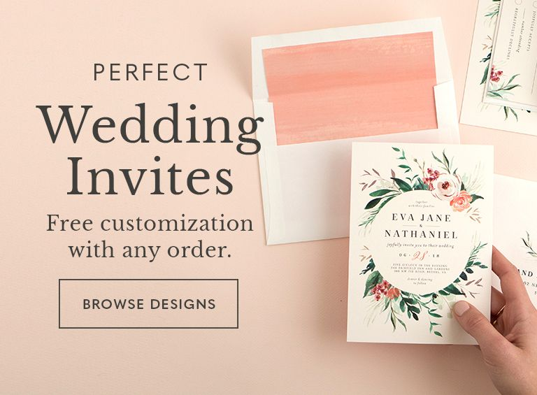 Beautiful custom wedding invitations