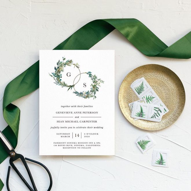 Leafy Hoops invite