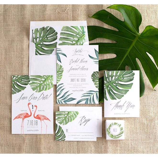 Tropical Palm invite suite