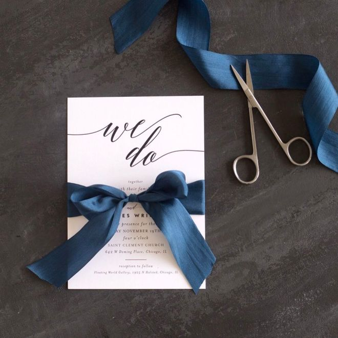 We Do wedding invite