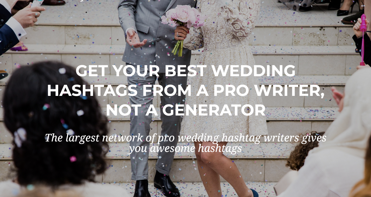 Get a Free Wedding Hashtag