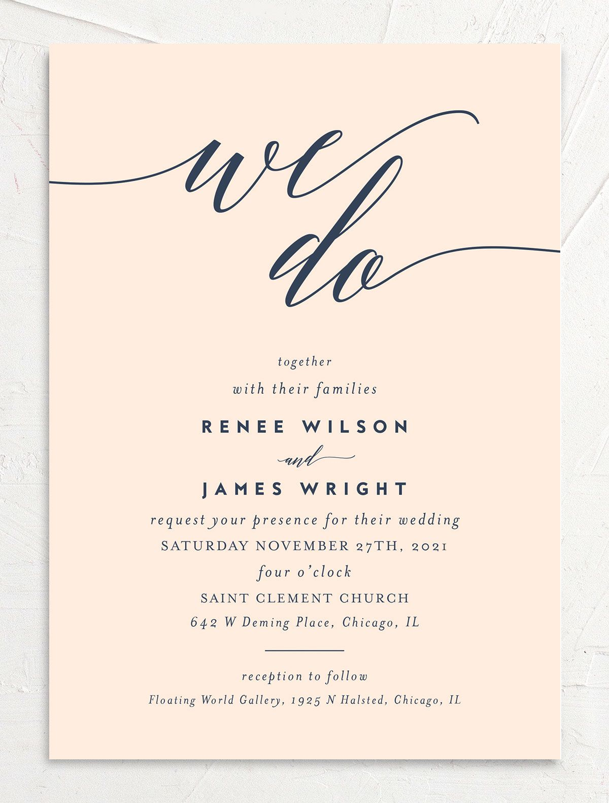We Do Wedding Invites in pink