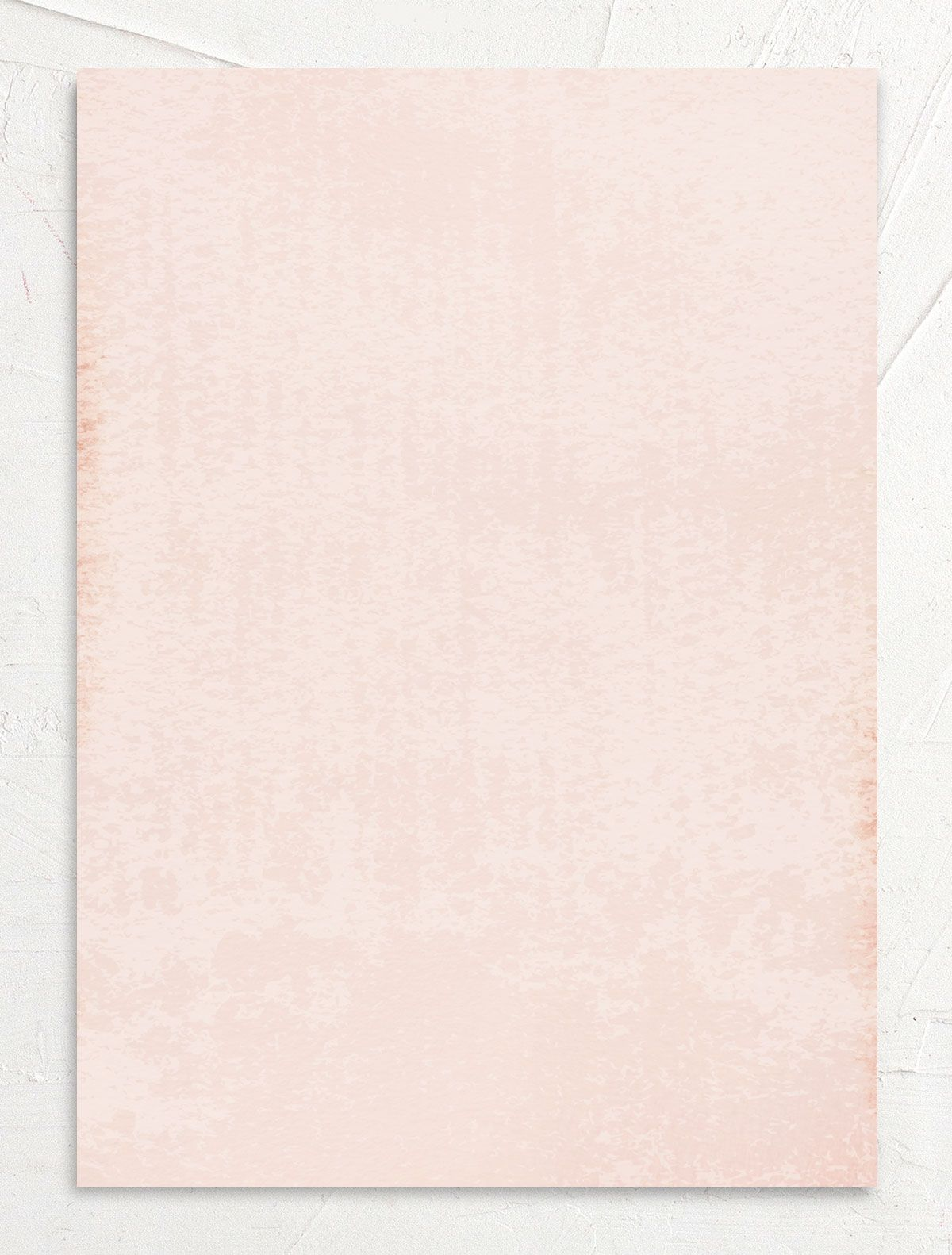 organic luxe wedding invites in peach back