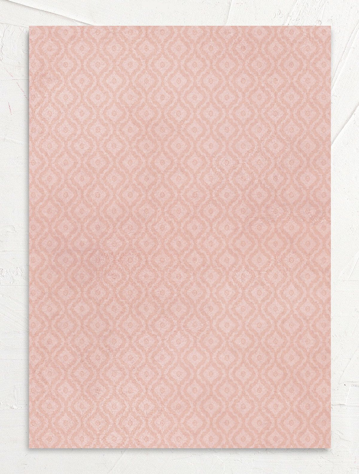 painted desert wedding invitations in pink back