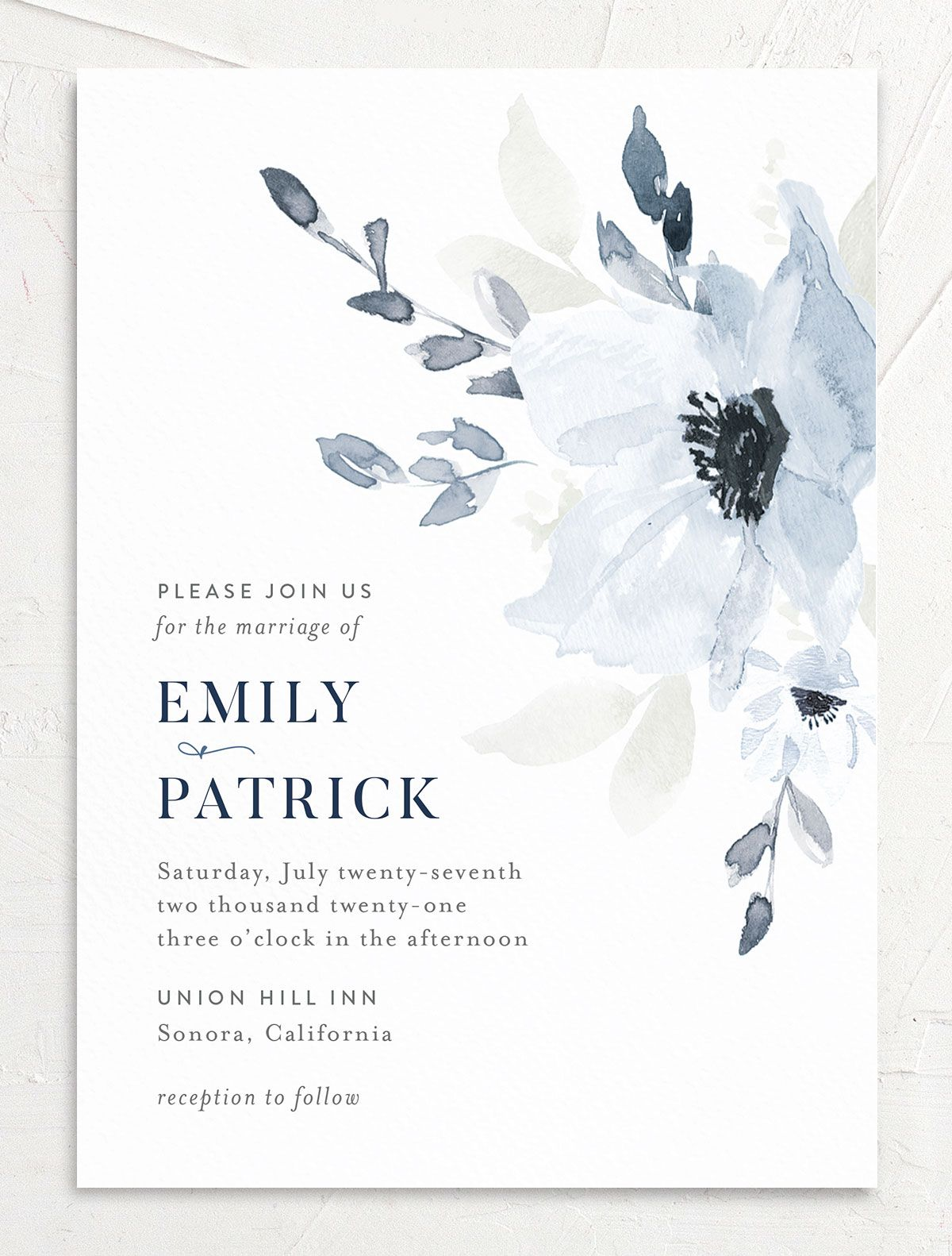Shade of Blue Wedding Invitation