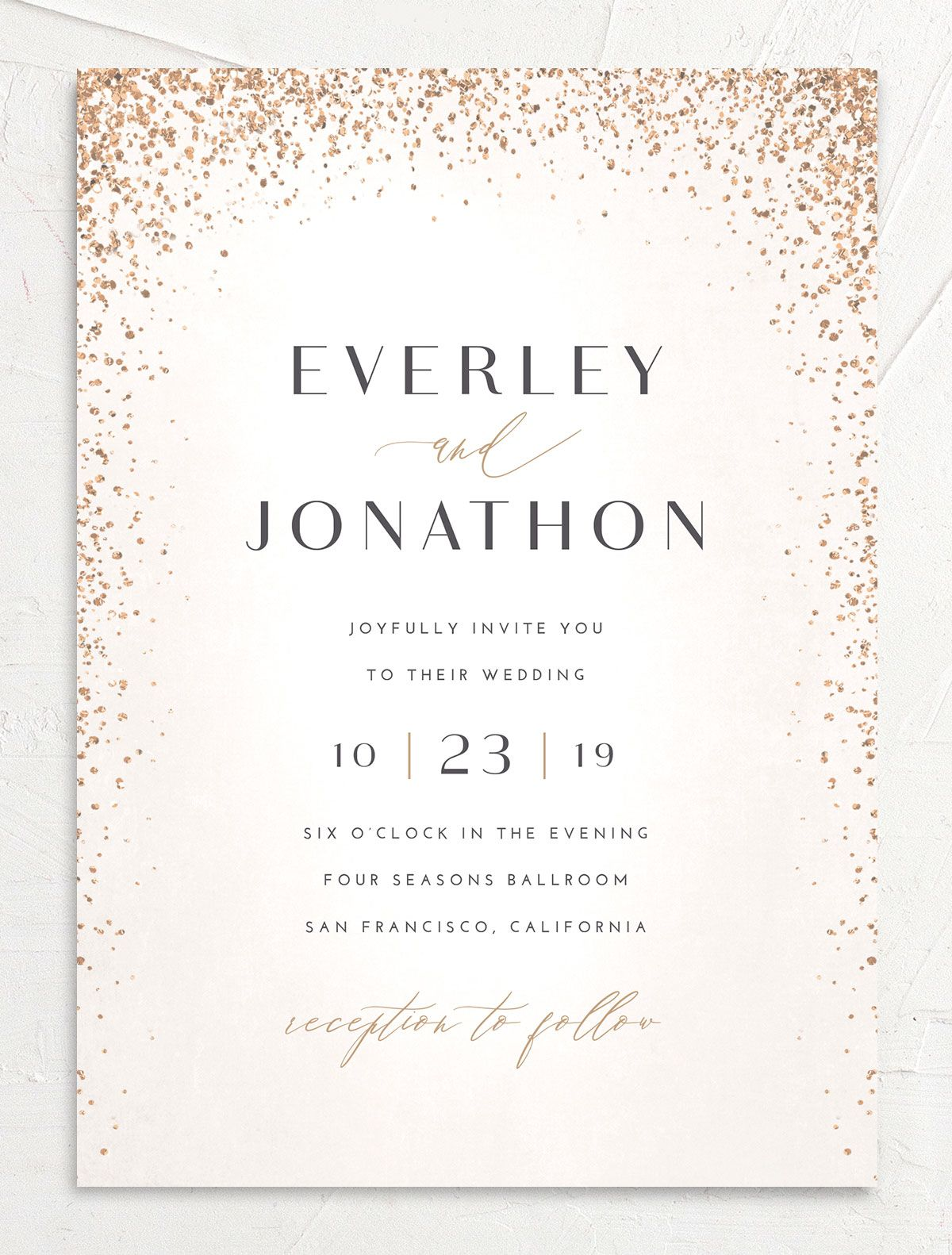 Sparkling Romance wedding invitation