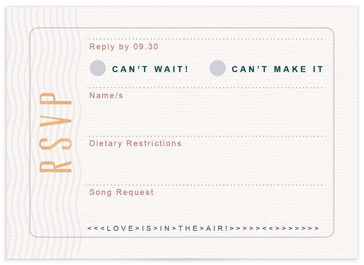 Custom Passport rsvp card front