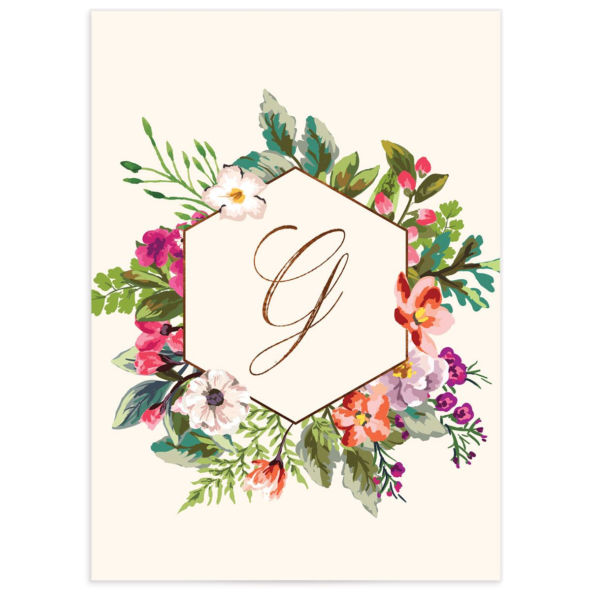 Bronze Floral Frame Wedding Response Cards back