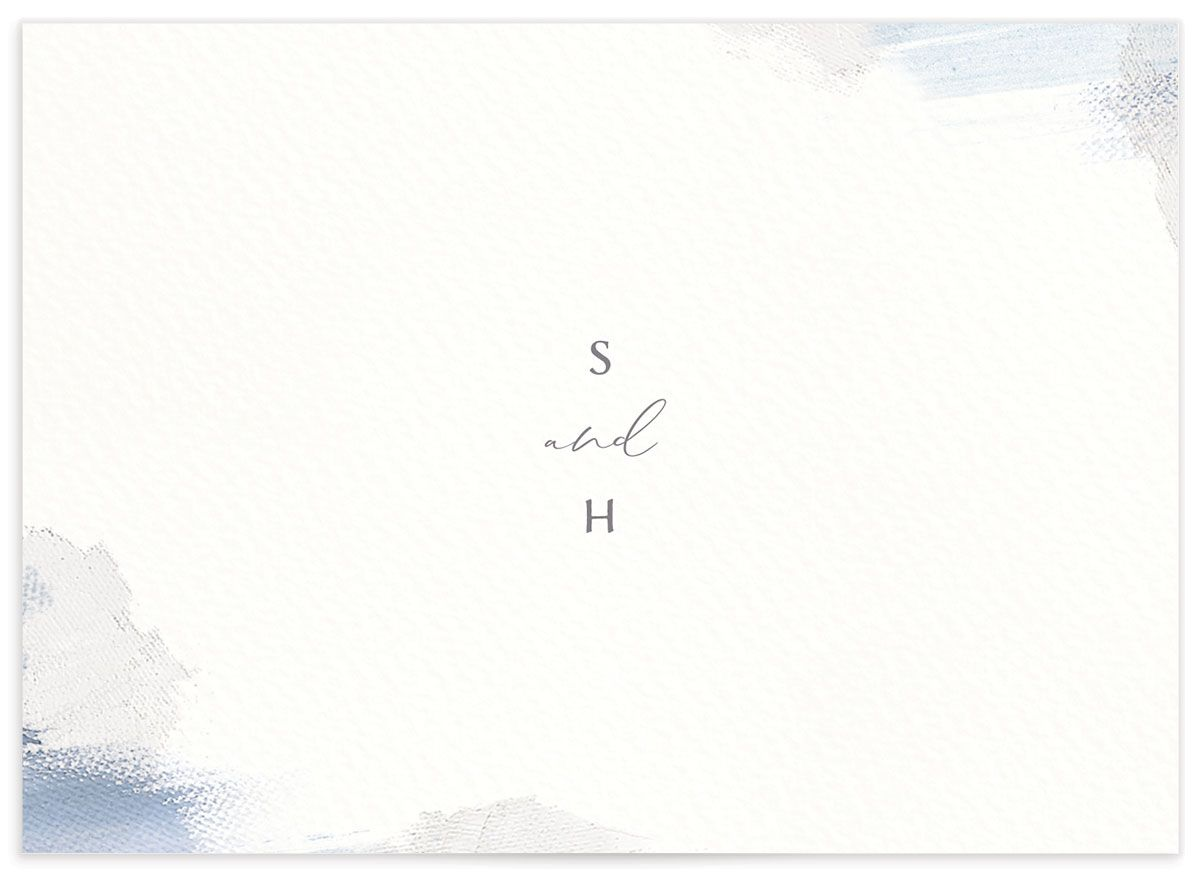Minimal Brush RSVP card blue bak