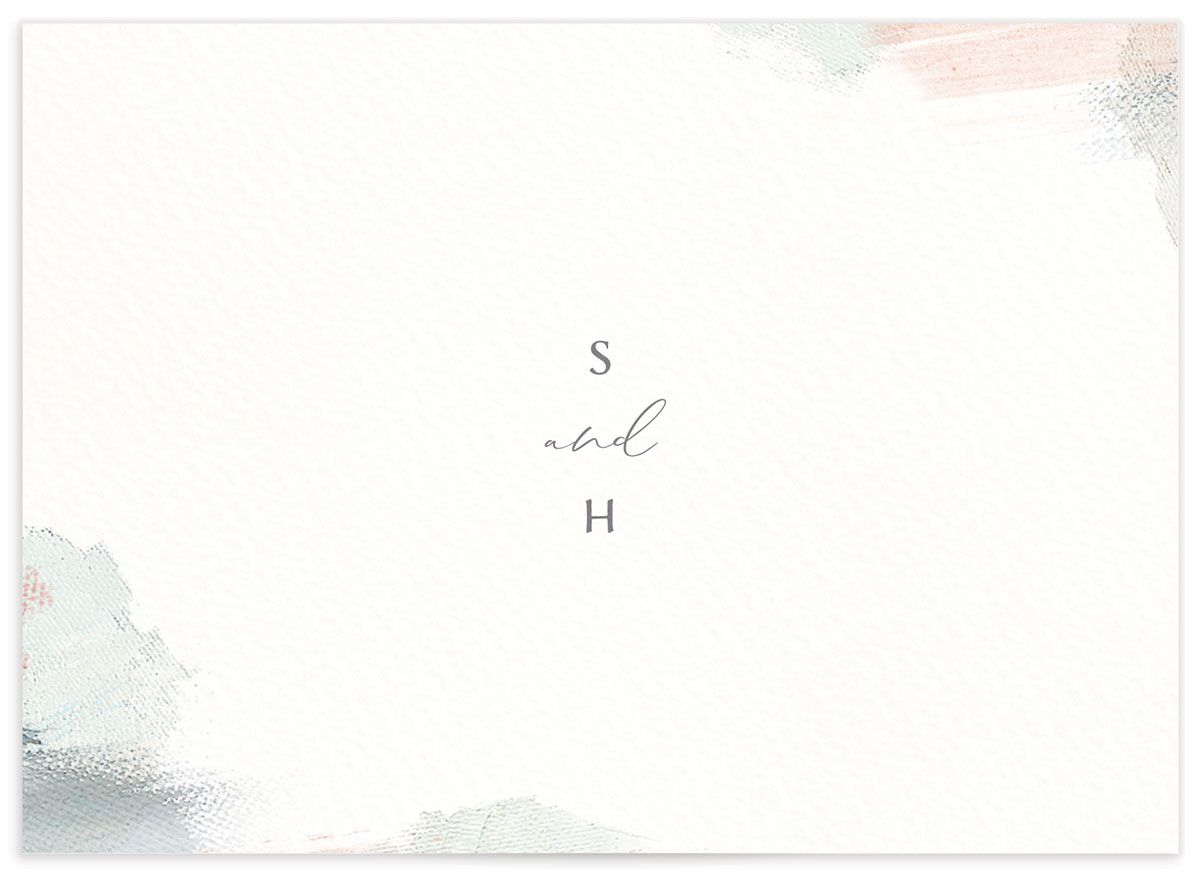 Minimal Brush RSVP card green back