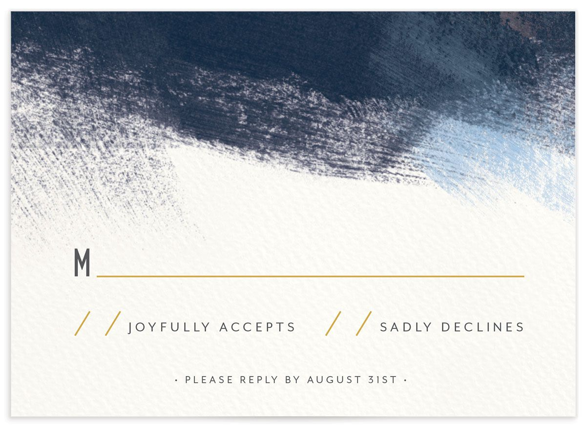 Modern Brushstroke RSVP card back