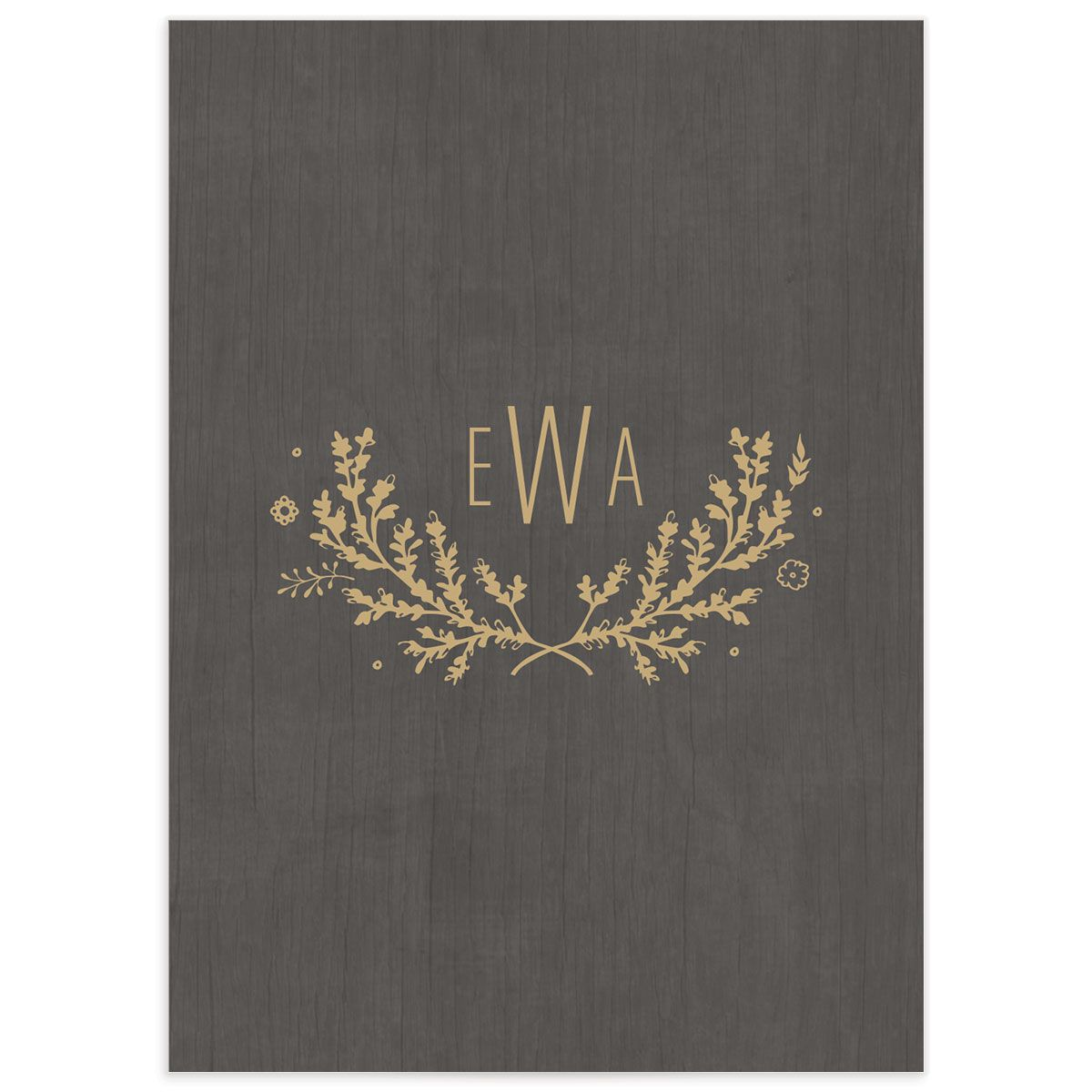 rustic chic wedding rsvp cards in gold back