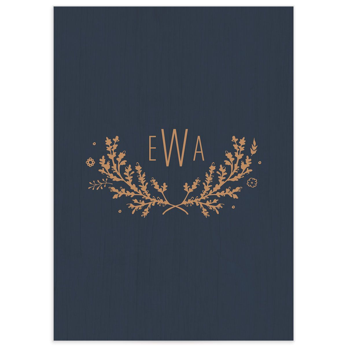 rustic chic wedding rsvp cards in navy back