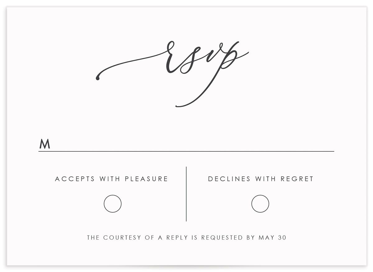 Blooming Botanical RSVP card