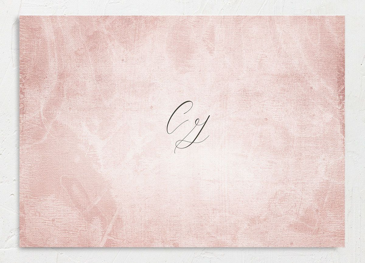 muted floral save the date in blush pink back