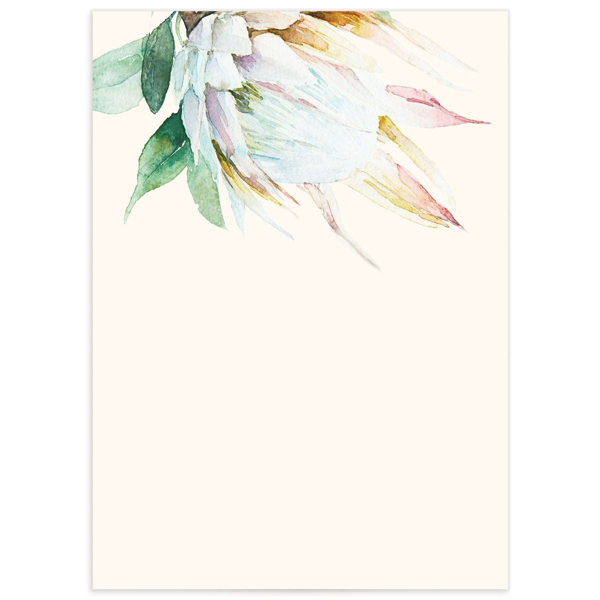 Palm and Protea Wedding Enclosure cards backer