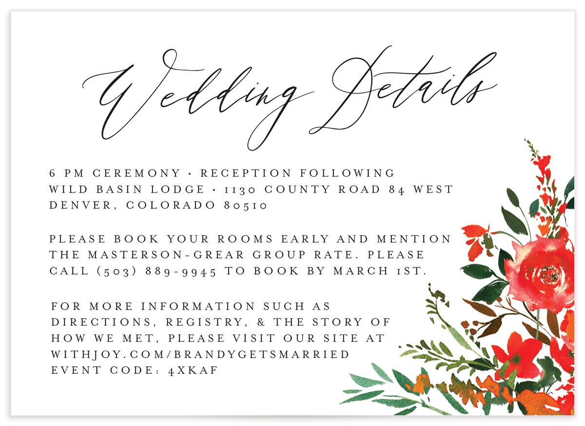 Cascading Altar details card in bright red front