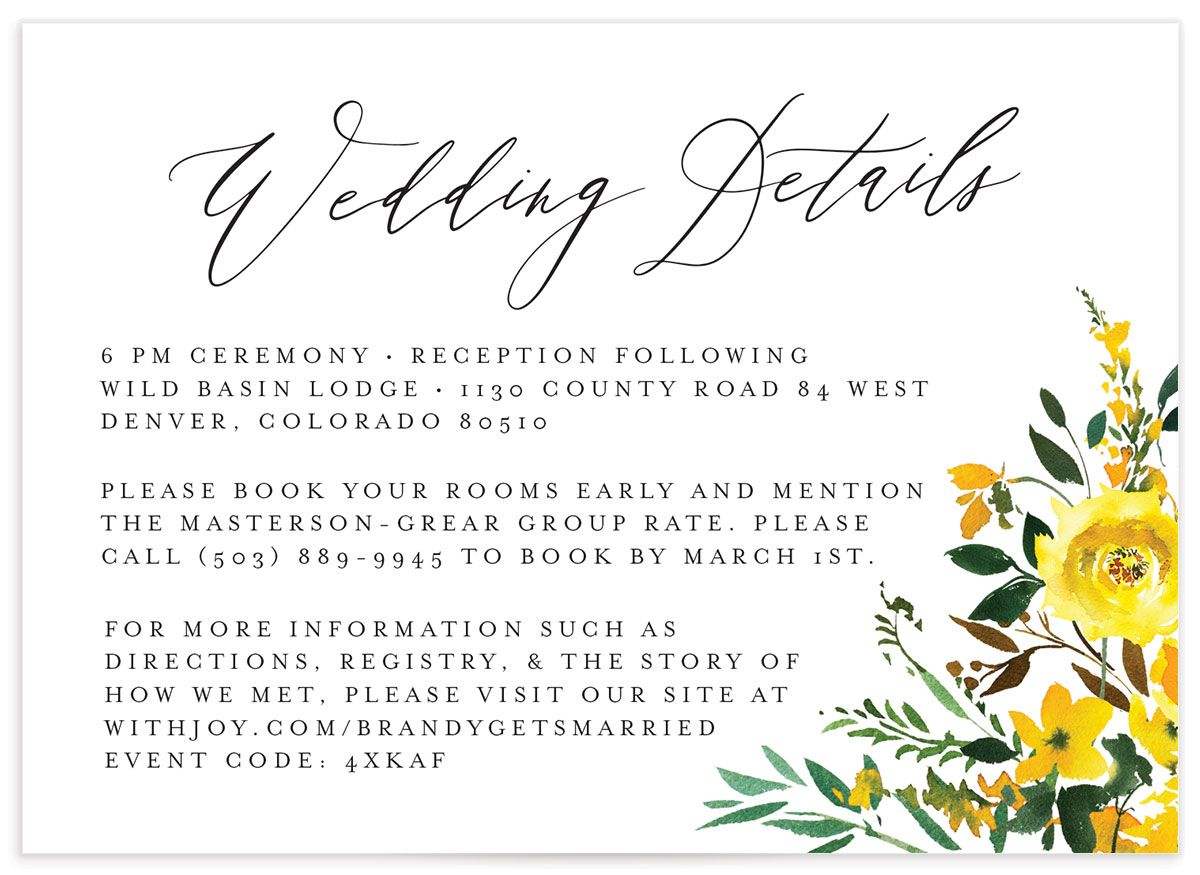 Cascading Altar details card in yellow front