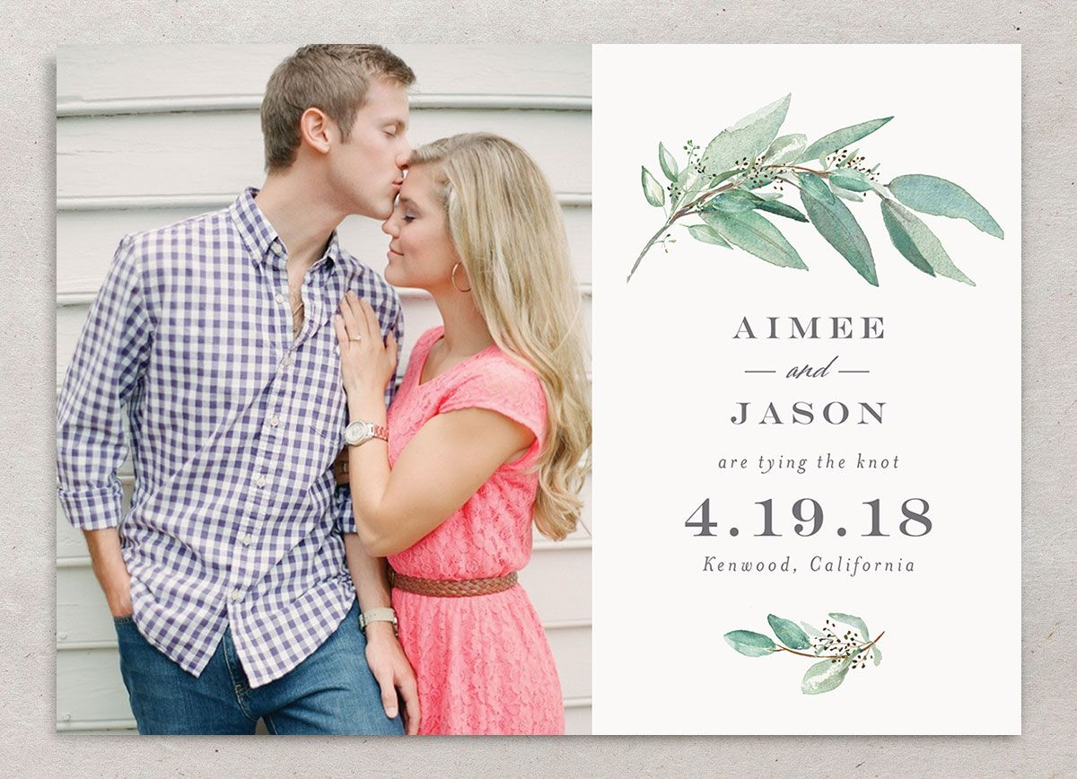 Lush Greenery save the date front