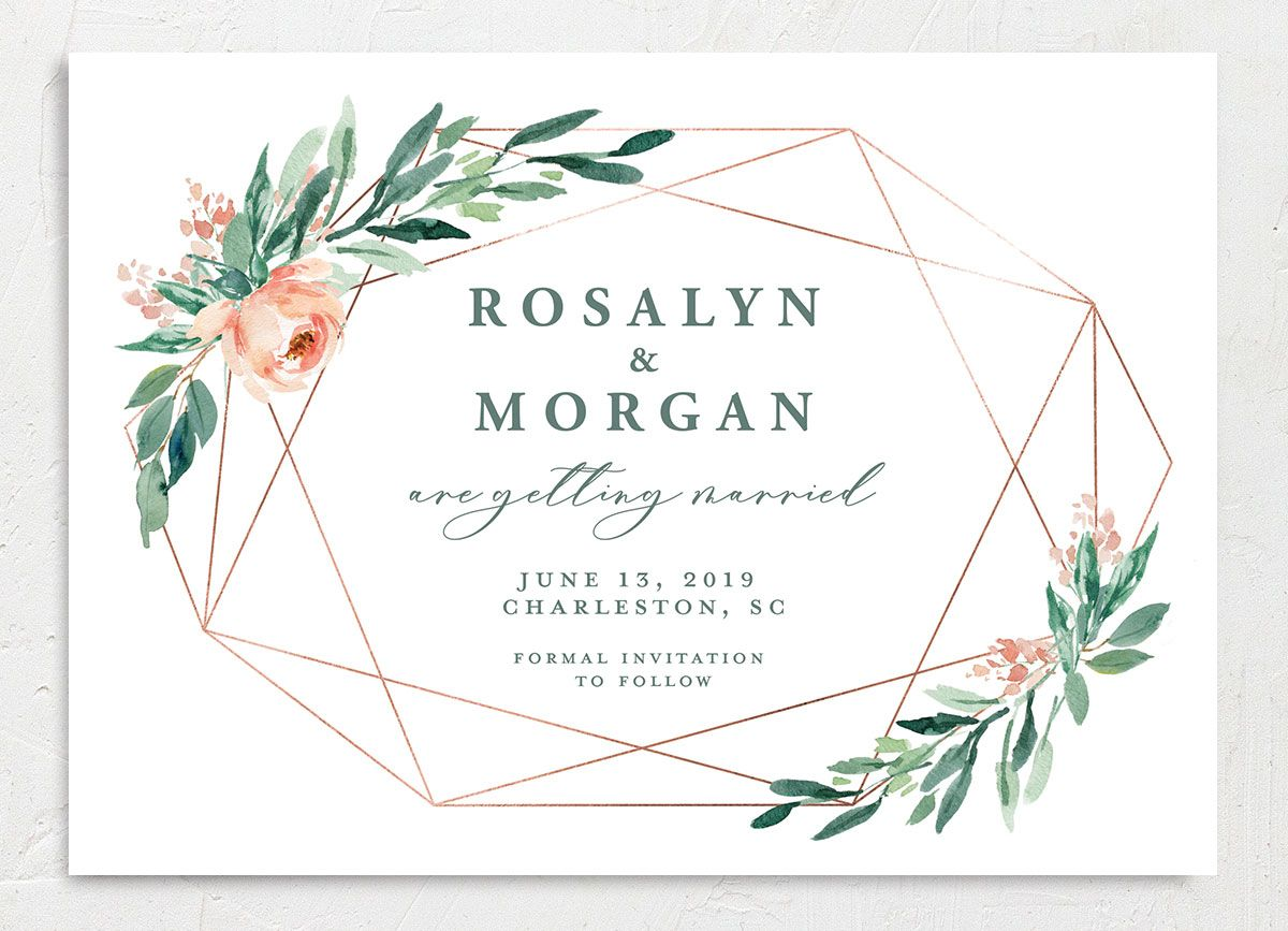 Gilded Botanical save the date front