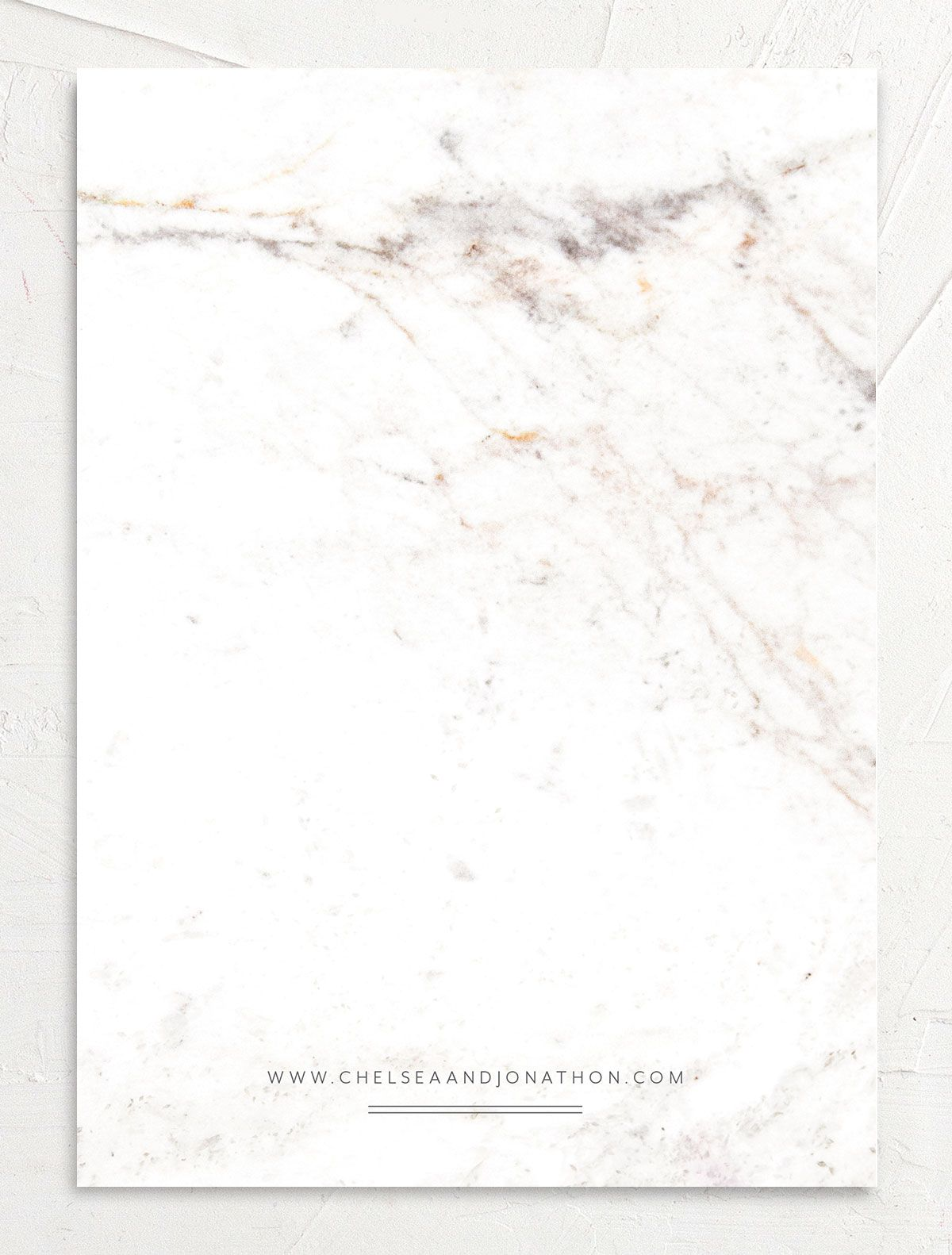 Mod Marble save the date back