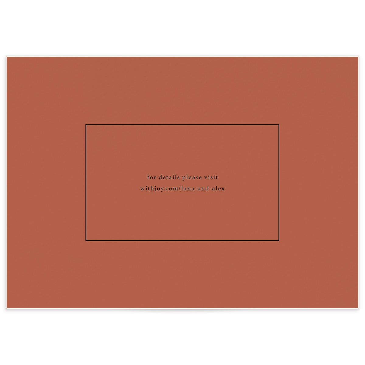 Natural Palette save the date cards closeup back in pink