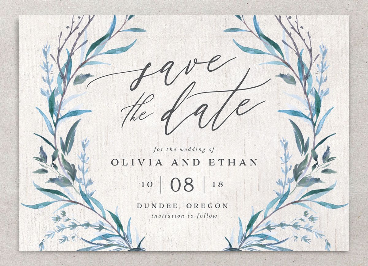 Natural Laurel save the date front