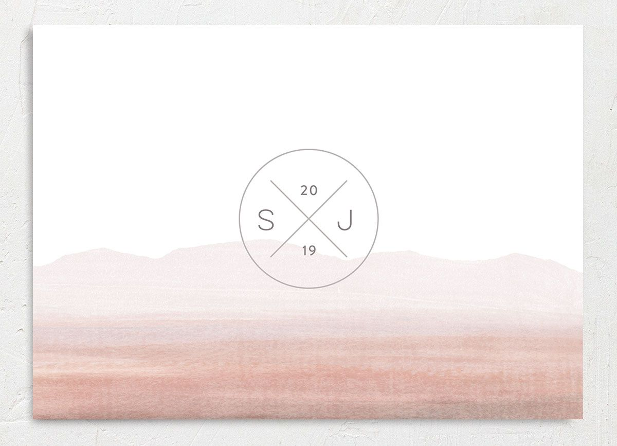 painted desert save the dates in pink back