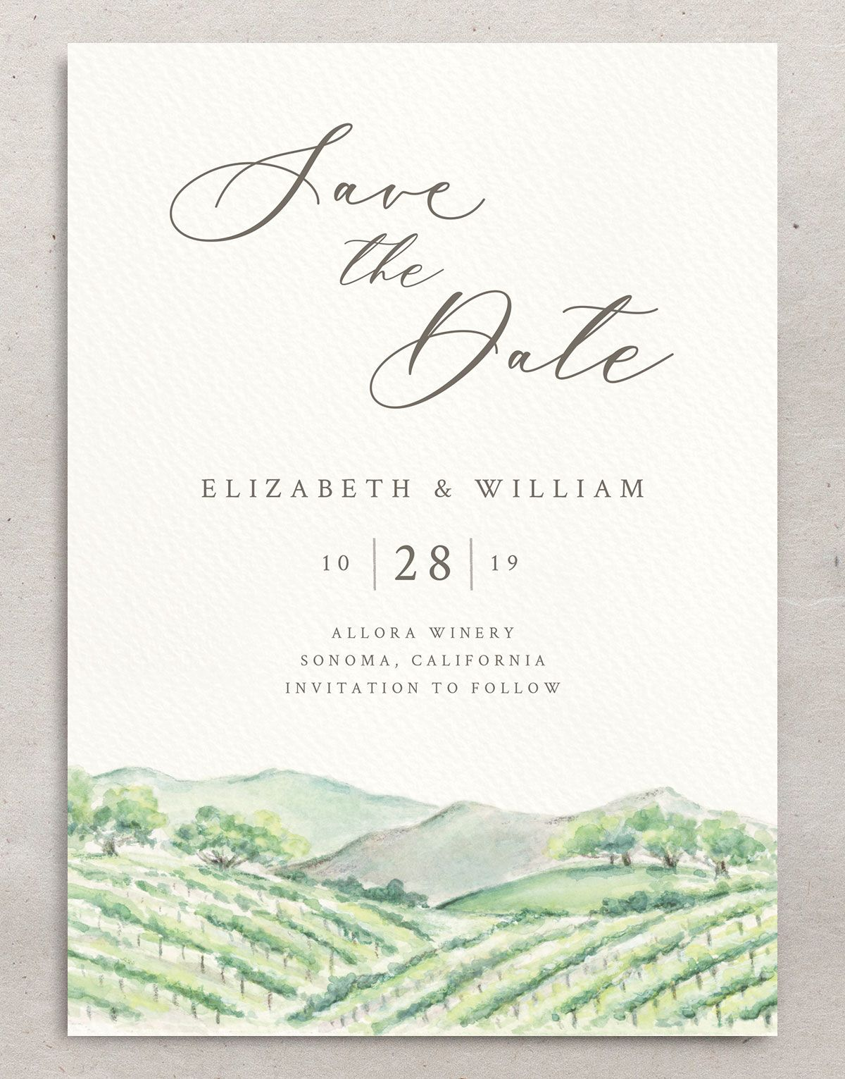 Painted Winery save the date