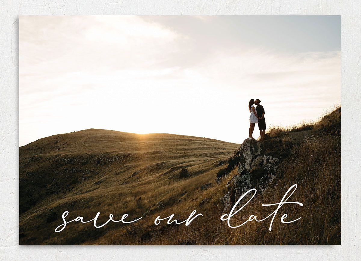 Minimal Brush save the date front