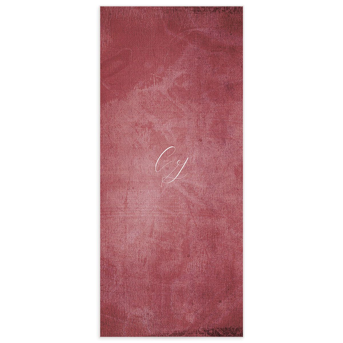 muted floral menus in burgundy back