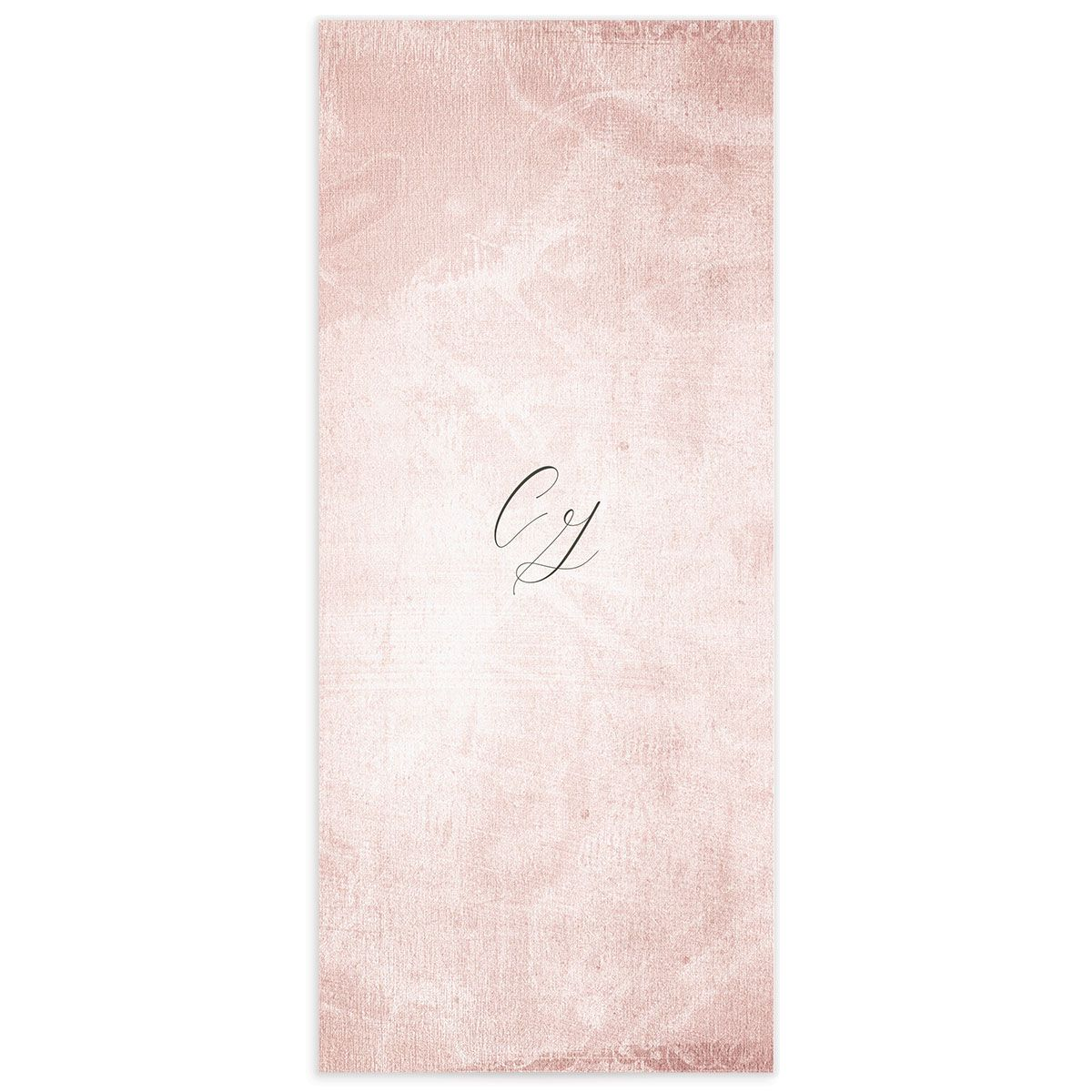 muted floral menus in blush pink back