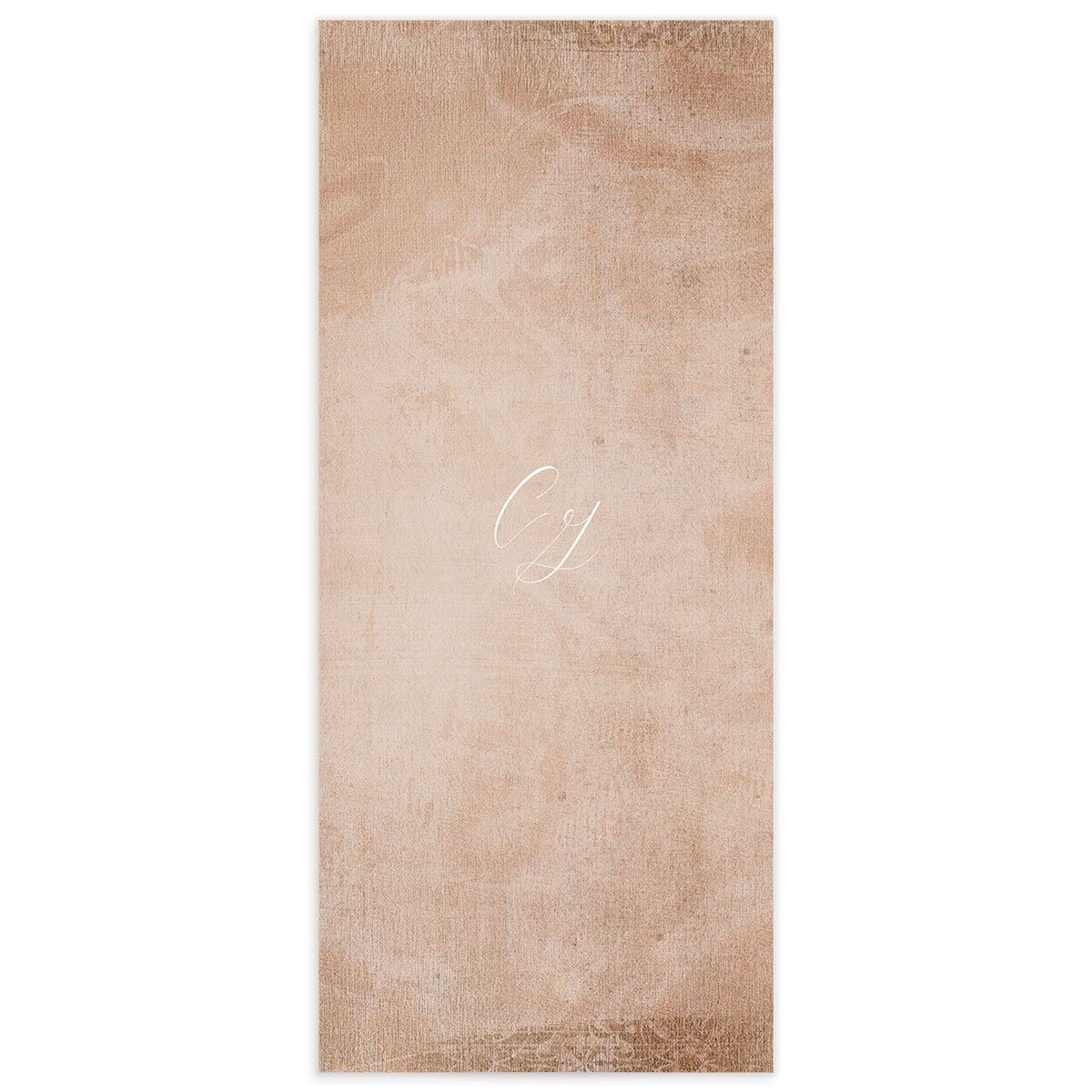 muted floral menus in copper back