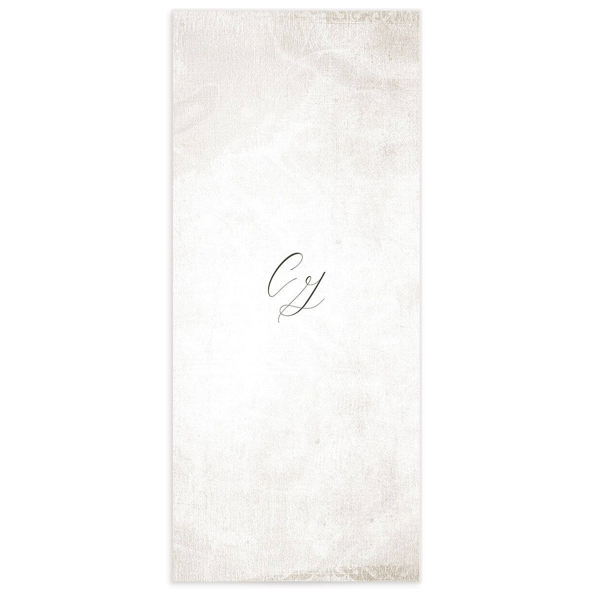 muted floral menus in white back