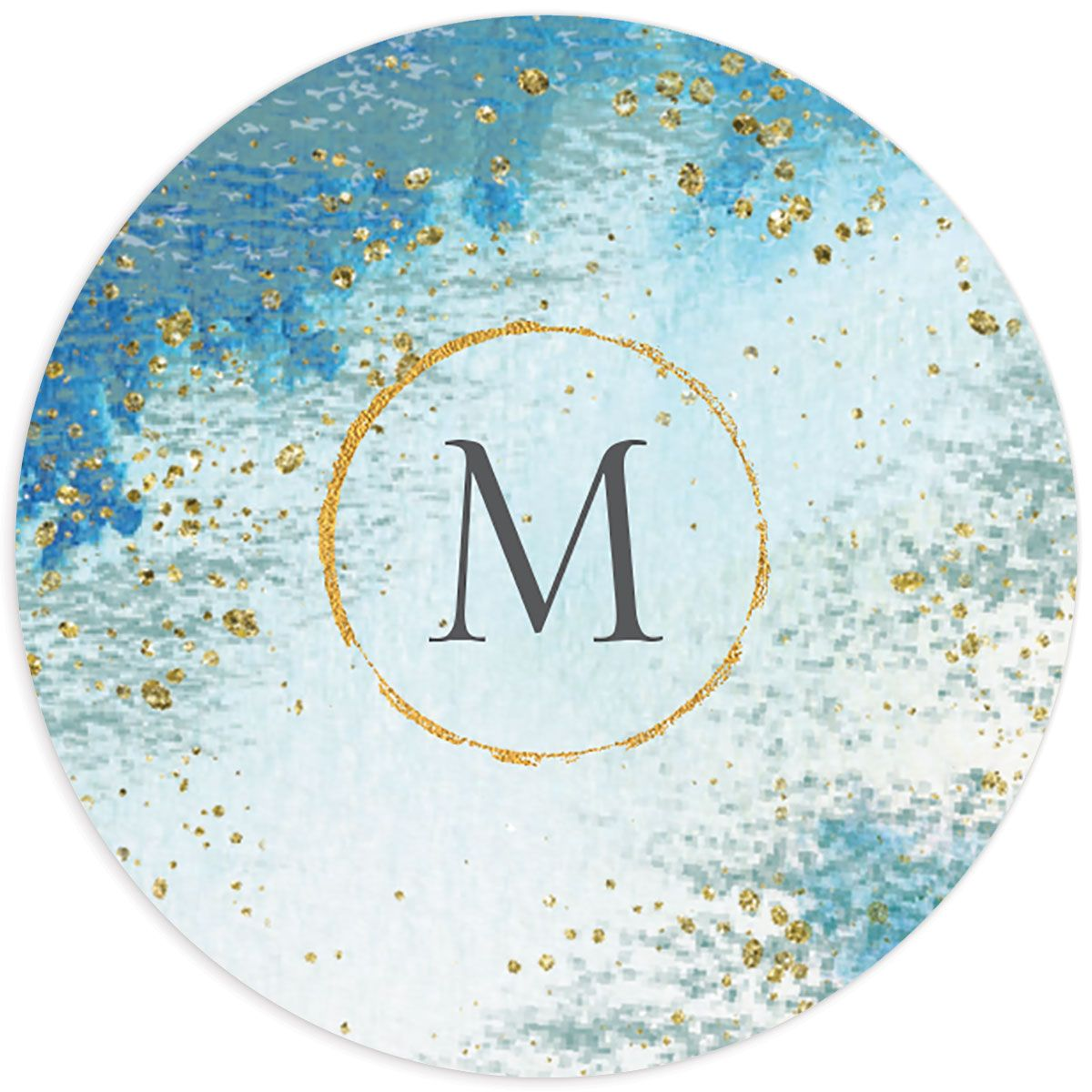 organic luxe wedding stickers in blue
