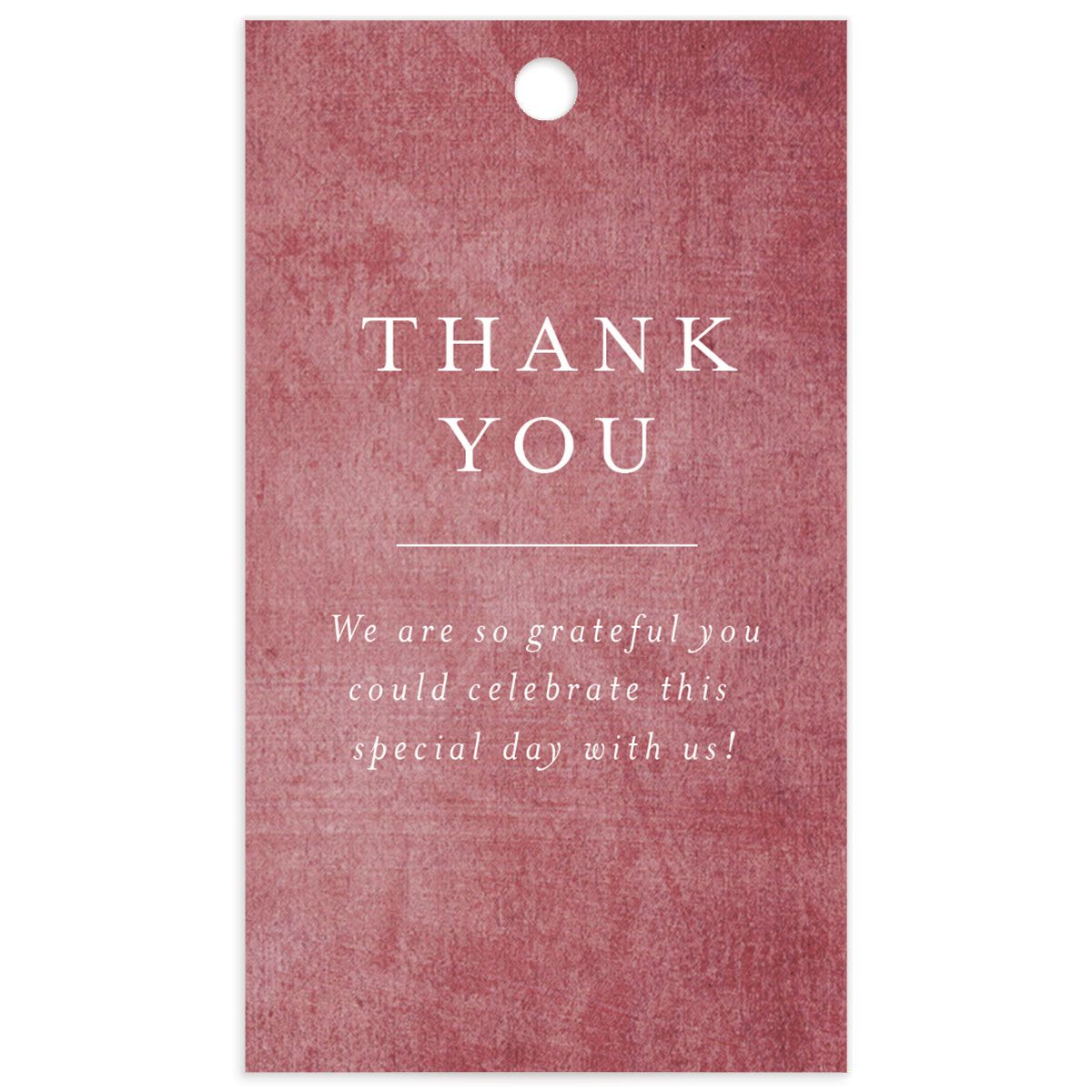 muted floral wedding favor gift tags in burgundy back