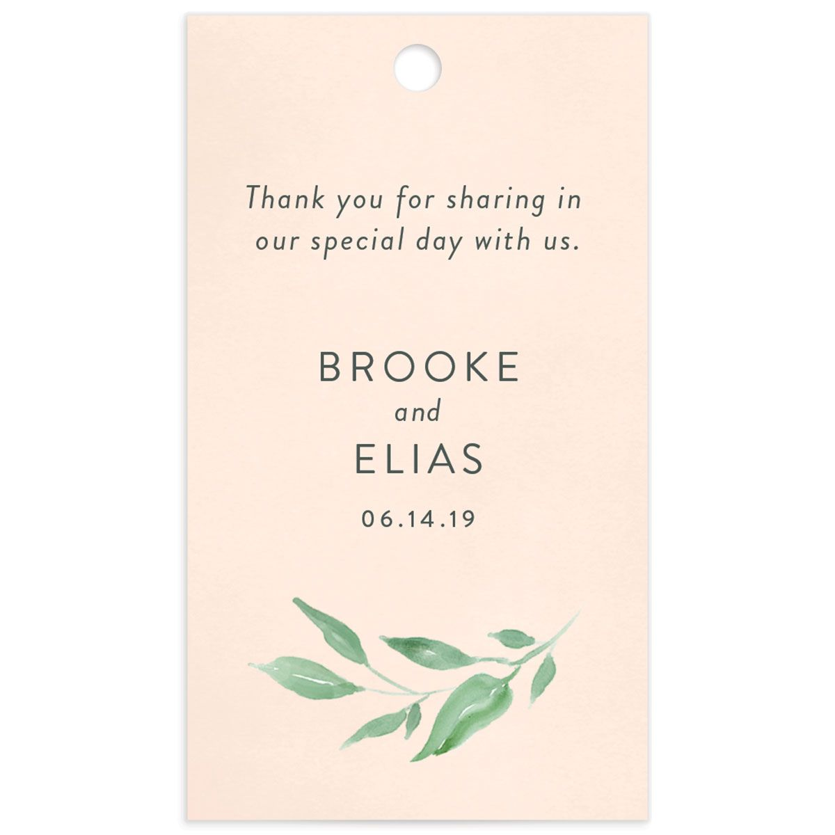 Romantic Floral Favor Gift Tags Back