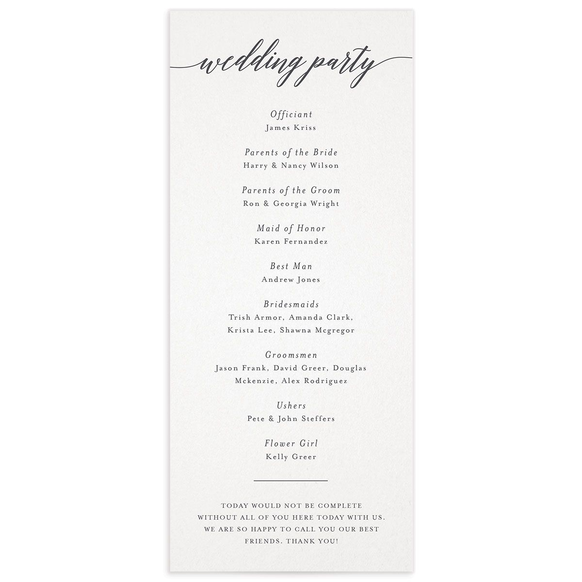 We Do Wedding Programs back in grey