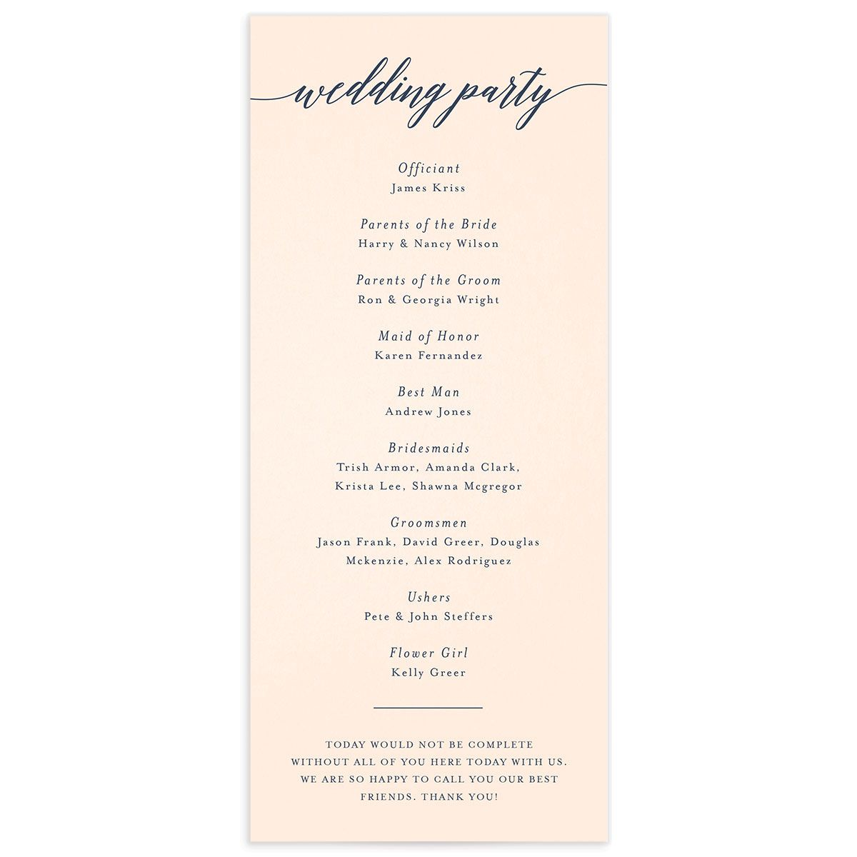 We Do Wedding Programs back in pink