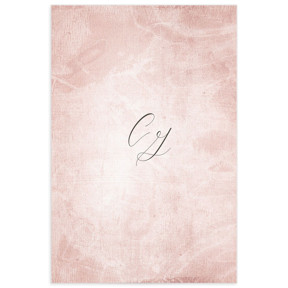 muted floral table numbers in blush pink back
