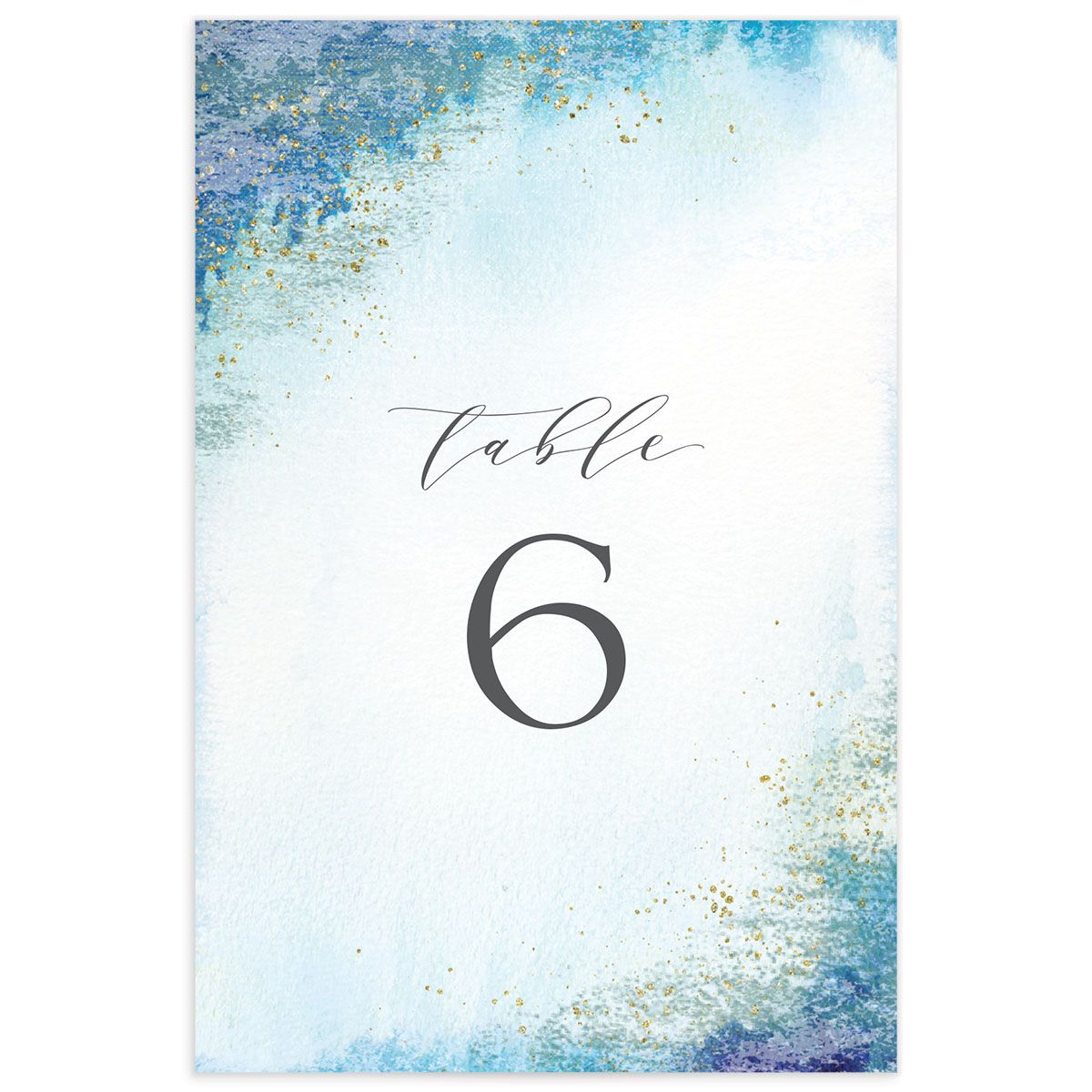 organic luxe wedding table numbers in blue