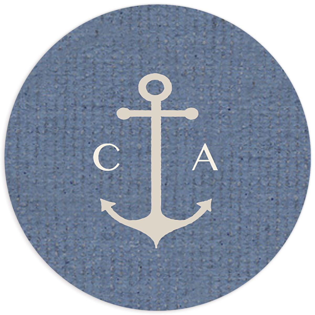 Coastal Love stickers in blue