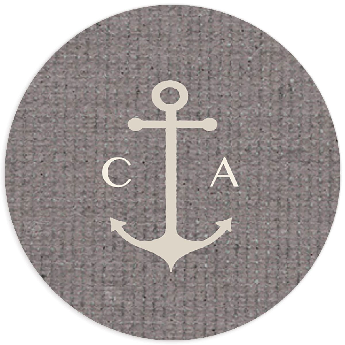 Coastal Love stickers in grey