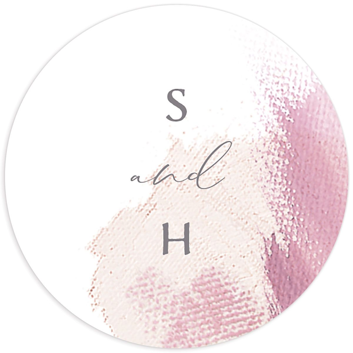 Minimal Brush sticker pink