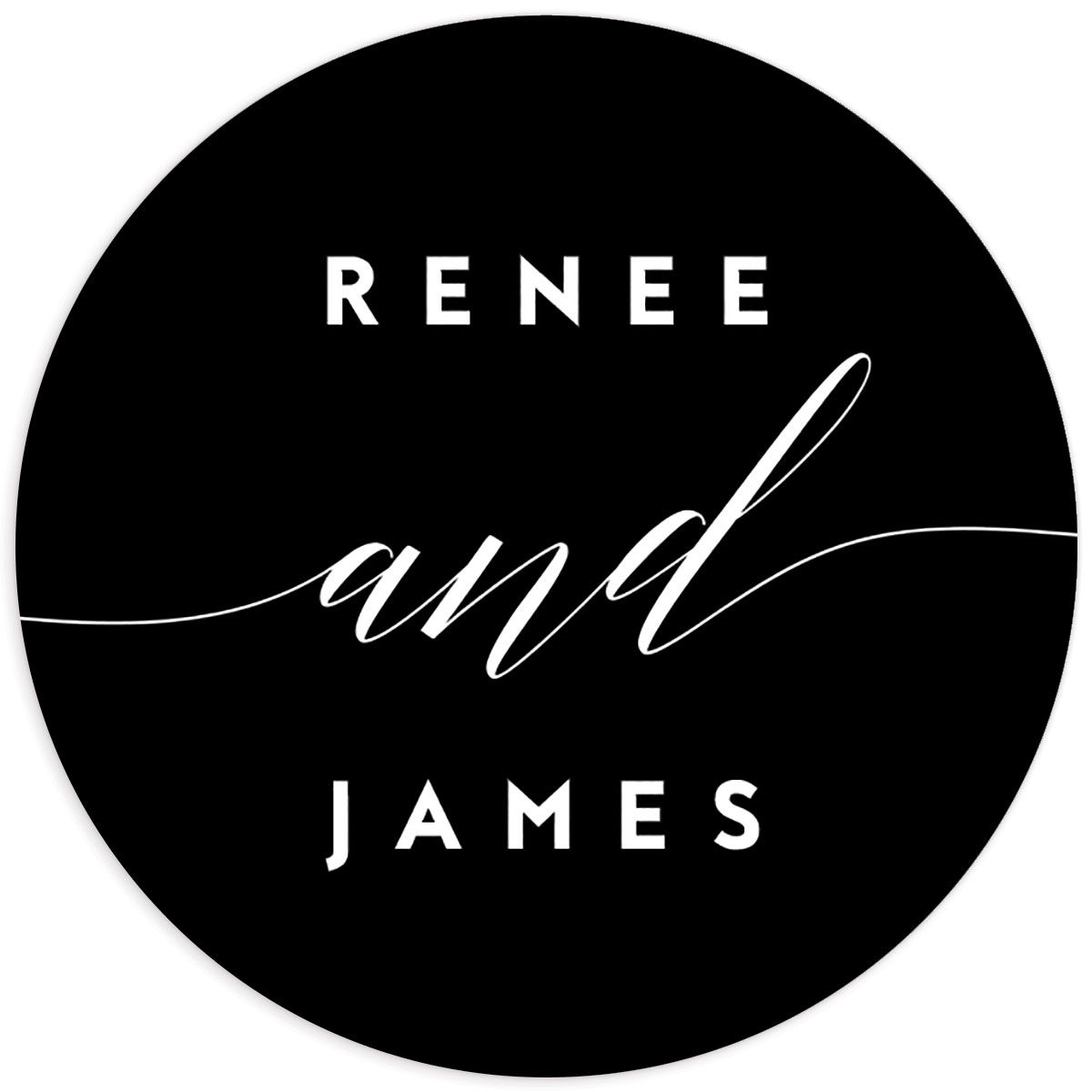 We Do Wedding Stickers in black