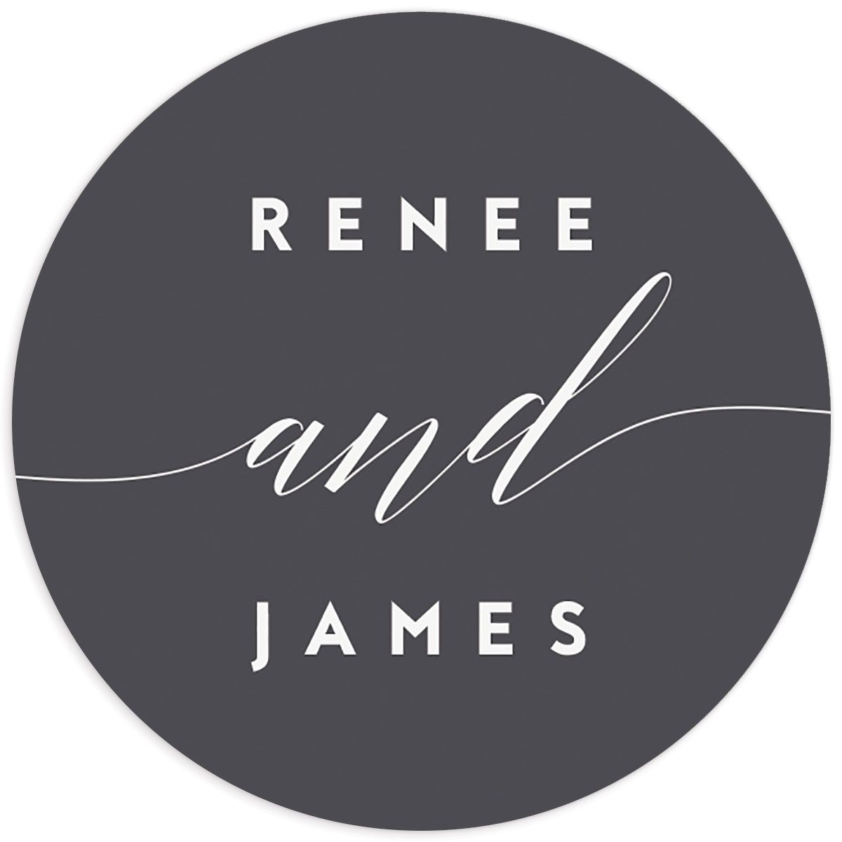 We Do Wedding Stickers in grey