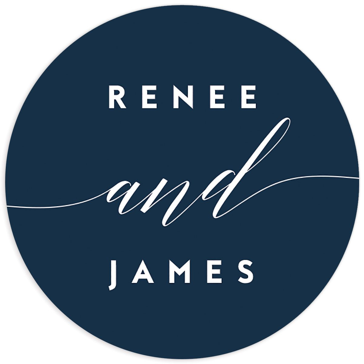 We Do Wedding Stickers in navy
