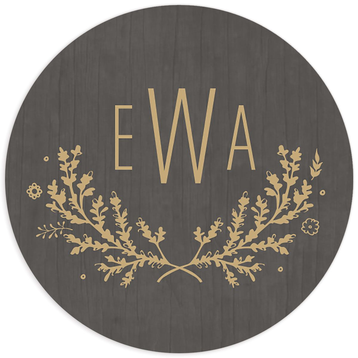 rustic chic wedding stickers in gold